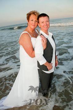 Assateague Island State Park Same Sex Beach Wedding -  Photo by Rox Beach Weddings:  http://roxbeach.com/