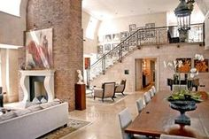 £30,000,000 - Flats Central London For Sale,13690333,Kensington,Central London,London,UK - A stunning 5925 sq ft duplex apartment located within an exclusive and private gated development with concierge service, and underground parking.    Arranged over two floors with a grand double height reception room, the property benefits from a beautiful eat in kitchen complete with Gaggenau appliances, second reception room, five bedrooms with en suite bathrooms, massage room, gym and private…