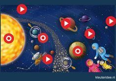 by Tamara Koopmans-Samson Solar System Projects For Kids, Space Party, Out Of This World, Living Room Designs, Painting, Bedroom, Image, Kitchen, Students