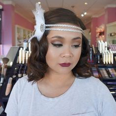Congratulations to our beautiful client, Natalie, and her engagement! Her wedding party was '20s themed and we couldn't be more happy to do her makeup and hair for the big event. Check our blog out (www.beprettystore.com/blog) for more information on her makeup and what products we used!