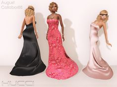 Hucci Uden Dress - Demo available - 8 recolors of Satin available - 6 recolors of Sequin available - 88L each - 488L fatpack for sequin dresses - 688L fatpack for satin dresses - Will NOT be sold after event