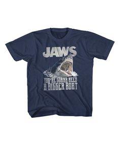 Look what I found on #zulily! Navy Jaws 'Bigger Boat' Tee - Toddler & Kids #zulilyfinds