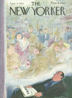 The New Yorker - Saturday, September 9, 1944 - Issue # 1021 - Vol. 20 - N° 30 - Cover by : Garrett Price