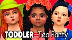 The Sims 4 Cas TODDLER's TEA PARTY + FULL CC LIST Sims 4 Cas, The Sims, Toddler Tea Party, Lunch Box Cooler, 4 Kids, Paper Dolls, Pokemon, Lady, Youtube