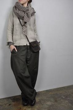 Wonderful #womens #outfit in neutral colors. Love this linen! #fashion #style