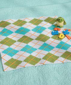 Argyle Crochet Afghan Pattern : Crochet, Argyle on Pinterest Tunisian Crochet, Tapestry ...