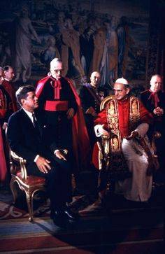 President Kennedy is shown at the Vatican in an audience with Pope Paul VI, on July 3, 1963. (AP Photo)