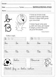 caligrafia com a letra B de bola