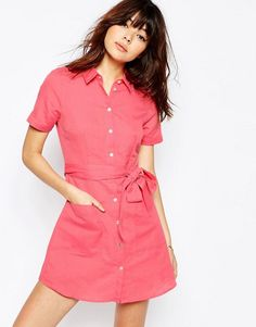 ASOS   ASOS Natural Fibre Shirt Dress