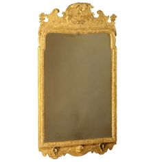 George I Gesso Work Looking Glass | From a unique collection of antique and modern wall mirrors at https://www.1stdibs.com/furniture/mirrors/wall-mirrors/