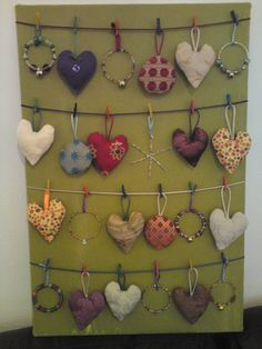 This is a homemade advent calendar - each day you can add a decoration and there is a star for Christmas Eve