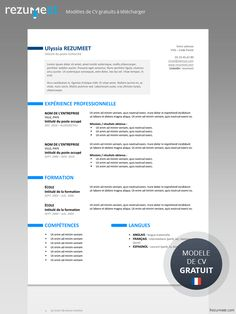 Ueno is a free professional resume template with a bright and clean style. Fully & easily editable with MS Word. Free Professional Resume Template, Resume Template Examples, Resume Template Free, Free Resume, Cv Curriculum Vitae, La Formation, Job Title, Company Names, Lorem Ipsum