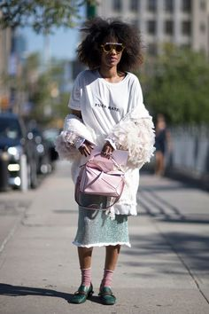 The Best Street Style From New York Fashion Week SS17 #streetstyle #newyork #ny #fashion #fashionweek #ss17 #elleaus