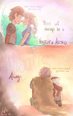 There Will Always be a Hiccup and Astrid by leffie-draws-fanart