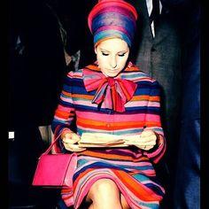 @lizziemontgomerydesign  Barbra Streisand, 1960s #barbrastreisand #sixties #60s #60sstyle #stripes #60sfashion