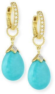 Jude Frances 18K Gold Turquoise and Diamond Earring Charms