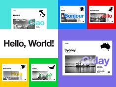 """Popatrz na ten projekt w @Behance: """"Hello, World!"""" https://www.behance.net/gallery/45372701/Hello-World"""