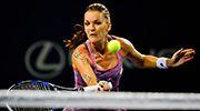 8/25/16 SFs Set: Connecticut Open Top-Seed Agnieszka Radwanska def. Lucky Loser Kirsten Flipkens' - next SFs, v New Haven Defending Champion Petra Kvitova. via WTA.