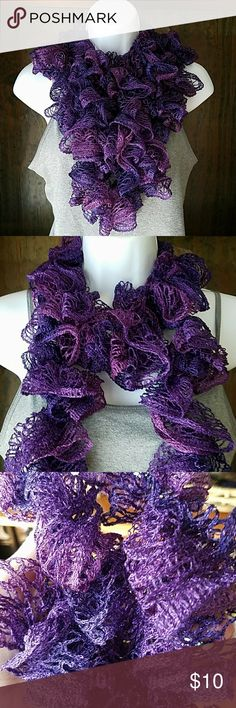 Purple Ombre Scarf Beautiful light and dark purple ombre scarf can be worn so many ways new and in perfect condition. Has a little Sparkle to it. Open to offers but no trade offers please isn't trying to purge my closet. Happy Poshing!!! Accessories Scarves & Wraps