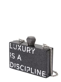 KARL LAGERFELD | LUXURY IS A DISCIPLINE PERSPEX CLUTCH