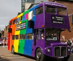 Rainbow Double Decker Bus