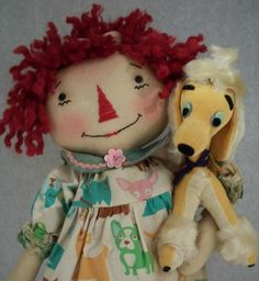 Valerie Raggedy Ann and Her Vintage Poodle by Debbie Vierkant