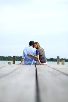 Engagement on the dock
