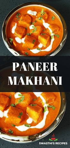 Paneer makhani is a delicious curry made by cooking paneer in buttery tomato cashew gravy. This super delicious creamy paneer makhani is loved by most Indians & is popular on the Indian restaurant menus. Paneer makhani goes so well with plain basmati rice, JEERA RICE, roti, PARATHA or naan. Paneer Recipes, Curry Recipes, Vegetarian Recipes, Cooking Recipes, Healthy Recipes, Vegetable Curry, Vegetable Recipes, Paneer Makhani, Recipes