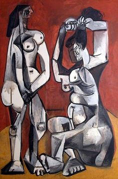 Picasso /two nudea, one combing her hairp