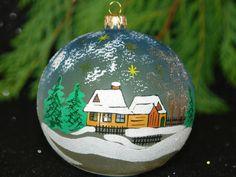 Ornamento di Natale GRANDE mano dipinto a mano fatto di aniamelisa