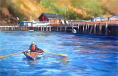Rowin' on the River - Original Fine Art for Sale - © by Erin Dertner