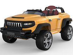 HENES Broon T870 Luxus RC Batteriebetrieben 4 rad Antrieb Rutscher Auto mit Abtrennbarer Tablet – Orange