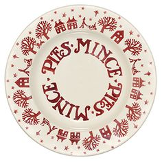 Christmas Town Mince Pies inch Plate for Collectors Club (Christmas Discontinued