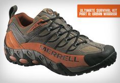 Merrell's Urban Warrior trail runner. Their shoes are always an excellent choice for anything outdoors.
