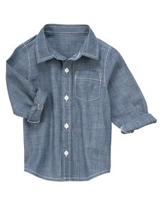 Go casual or fancy with a stylin' chambray shirt.
