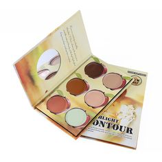 6 colors contour makeup palette ($40) ❤ liked on Polyvore featuring beauty products, makeup, face makeup, mineral cosmetics, mineral makeup, highlight makeup and palette makeup