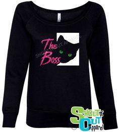 Cat sweatshirt, fun cat sweatshirt, Cat Lover gift, Cute cat sweatshirt by ShoutitOutApparel on Etsy