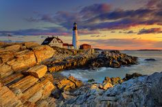 This is an image of the iconic lighthouse found along the East Coast in Maine.
