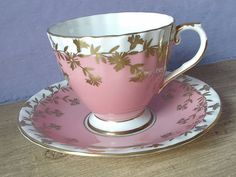 Antique Aynsley Pink Tea Cup and Saucer