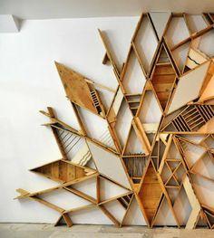 Installation palette, récup morceaux de bois