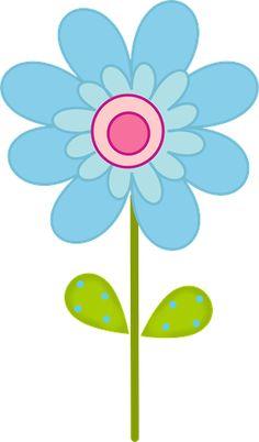 SPRING BLUE FLOWER CLIP ART Child Draw, Mosaic Pots, Silhouette Clip Art, Scrapbook Embellishments, Chalk Art, Cute Illustration, Free Coloring, Fabric Painting, Flower Art