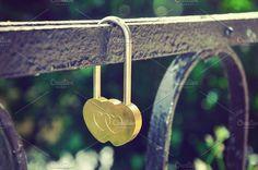 Golden wedding lock by Juicy Photography on @creativemarket