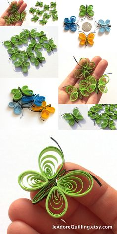 Butterflies Light Green Lime Emerald Table Confetti Dinner Ornaments Baby Bridal Shower Party Decor Gift Fillers Party Paper Quilling Art
