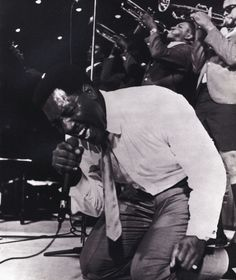 Otis Redding on stage at the Monterey Pop Festival, 1967.