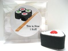 Sushi - This is How I Roll - Funny Wood Magnet
