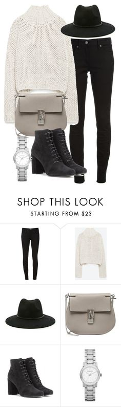 """""""Untitled #19396"""" by florencia95 ❤ liked on Polyvore featuring Burberry, Zara, Forever 21, Chloé and Yves Saint Laurent"""