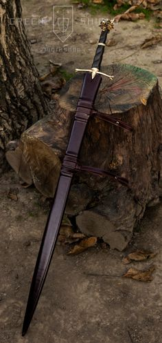 Witcher based sword Green shield design by GreenShieldWorkshop