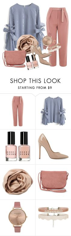 """""""Hijab summer"""" by salouaahrassi ❤ liked on Polyvore featuring Topshop, Chicwish, Bobbi Brown Cosmetics, Steve Madden, Brunello Cucinelli, TOMS and Olivia Burton"""