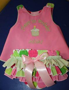 Happy Birthday Dress with Sassy Ruffle by darceylanedesigns, $69.99