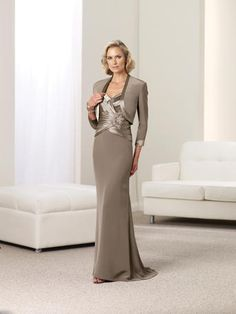 Montage by Mon Cheri-  Many styles are available with matching jackets or shawls for ultimate versatility. The Montage Boutique division of this collection offers upscale evening gowns and high-end dress suits in one-of-a-kind silhouettes and fine silk fabrics. Its expansive variety, becoming fit and stylish design deem Montage the leader in Mother of the Bride or Mother of the Groom lines.